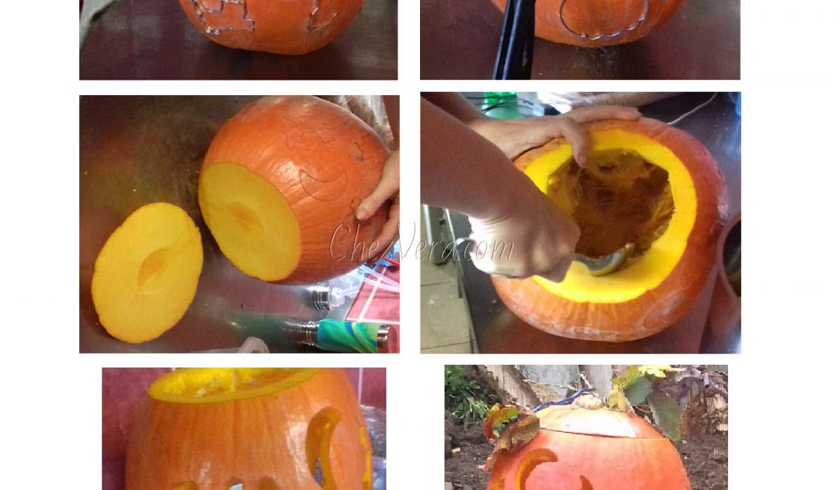 How to carve a Halloween pumpkin with cookie cutters?