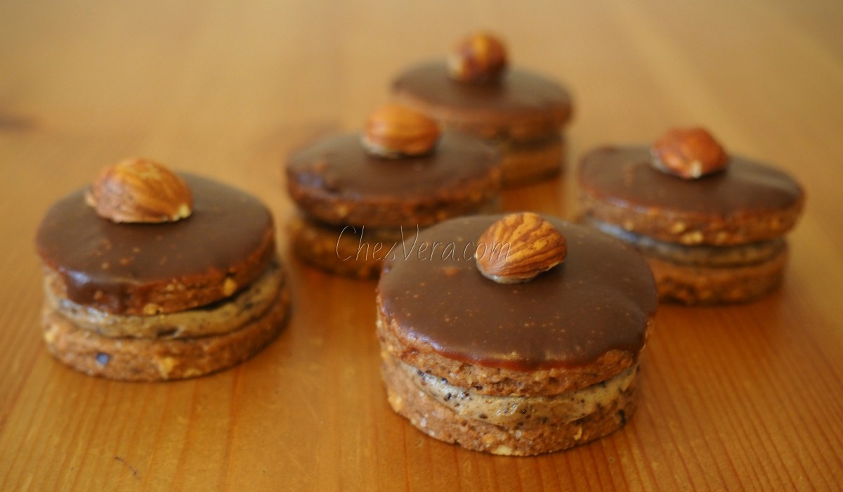 Hazelnut Shortbread Cookies with Coffee Cream
