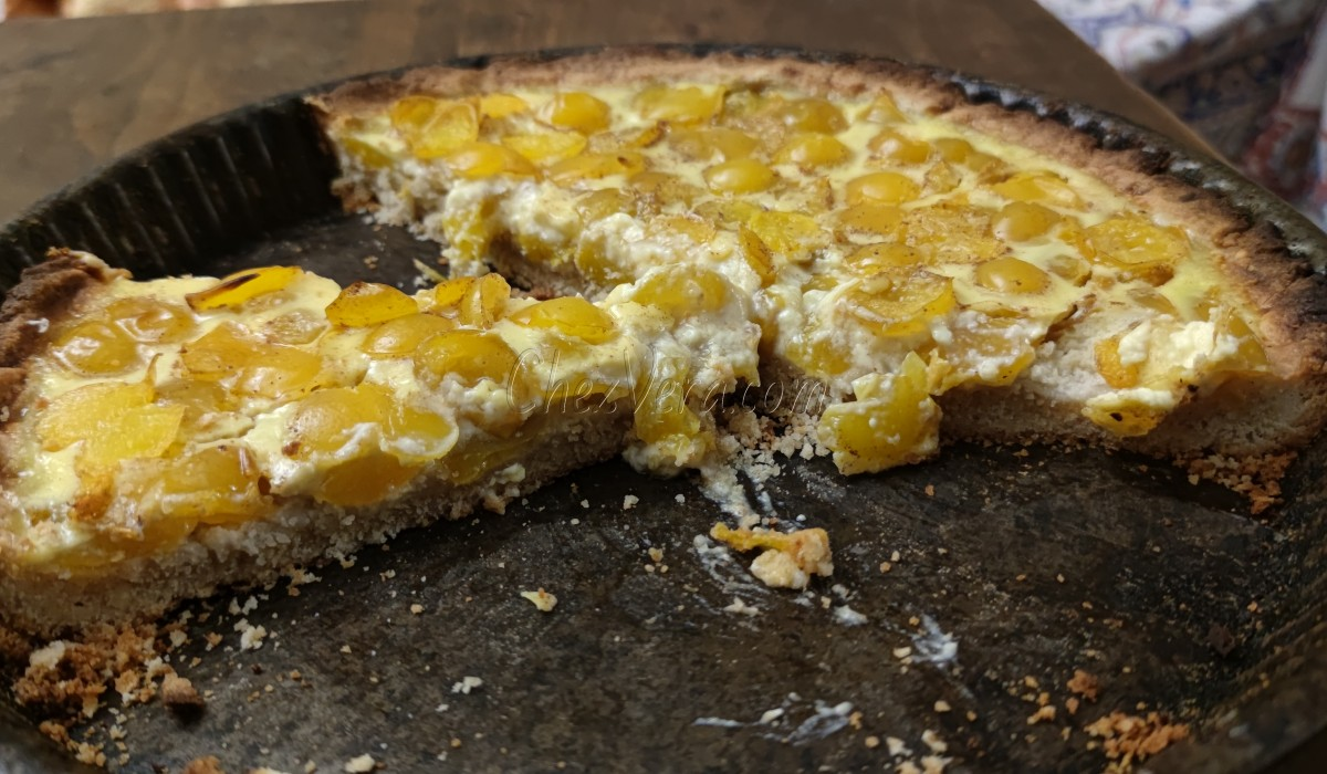 Mirabelle plum tart - hazelnut pastry