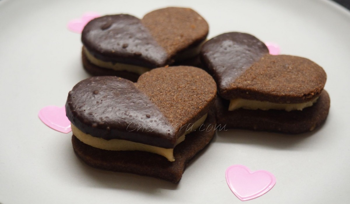 Chocolate Hearts with Marzipan (St. Valentine)