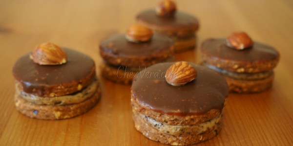 Hazelnut Shortbread Cookies with Coffee Cream