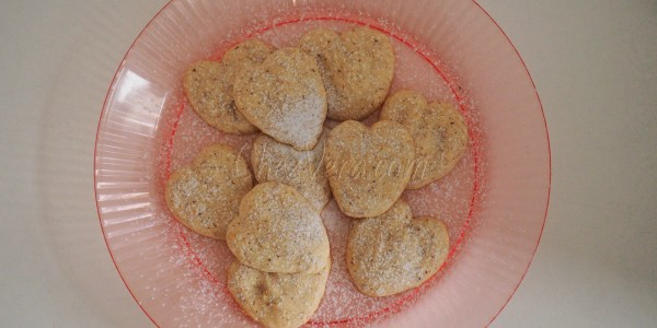 Heart Cookies with Marzipan