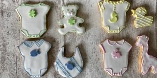 Recipes and cookiet cutters for birth and baby shower