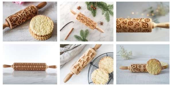 New at Chez Vera: engraved wooden rolling pins