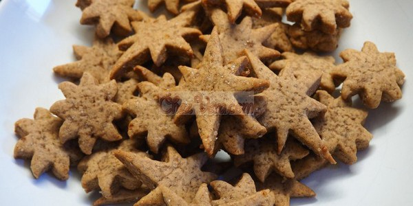 Shortbread with honey and cinnamon