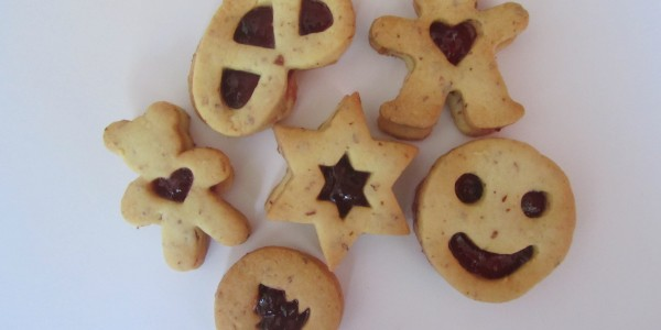 Linzer Cookies with Jam