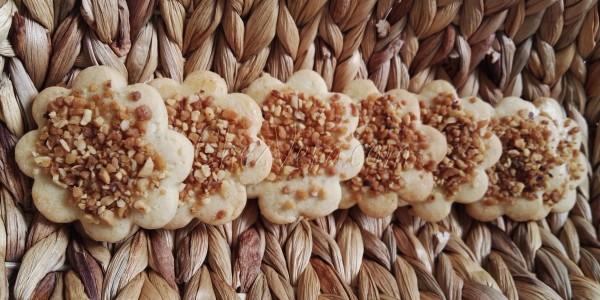 Almond - hazelnut - pistachio shortbread