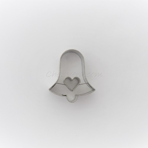 Linzer Cookie Cutter – Bell with Heart (small)