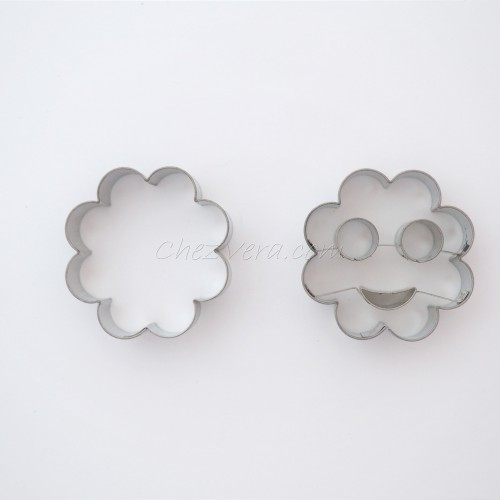 Linzer Cookie Cutters Set – Flower&Smiley (large)