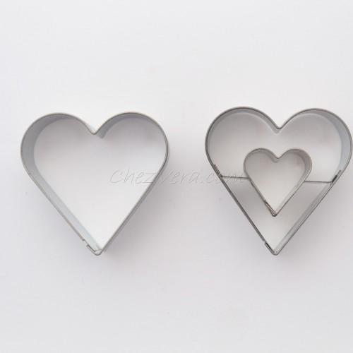 Linzer Ausstechformen Set – Herz (mittelgroß)