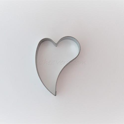 Emporte-pièce Coeur penché – grand