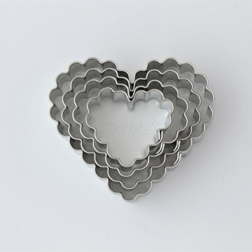 Linzer Ausstechformen Set – gezackte Herzen (4 Stücke)