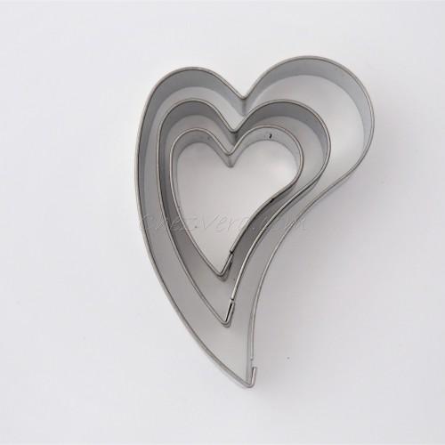 Set d'emporte-pièces - Coeur penché