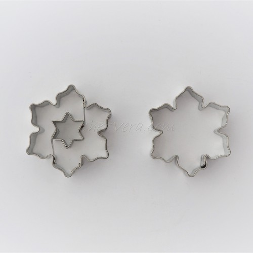 Linzer Cookie Cutters Set – Snowflake II with Star