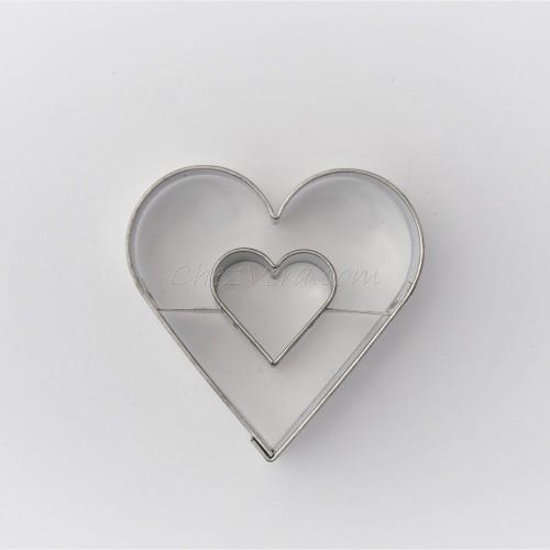 Emporte-pièce Coeur avec cœur grand