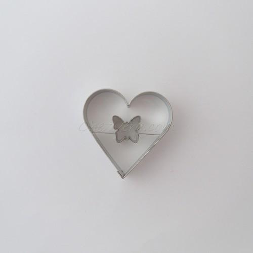 Emporte-pièce Coeur II avec papillon