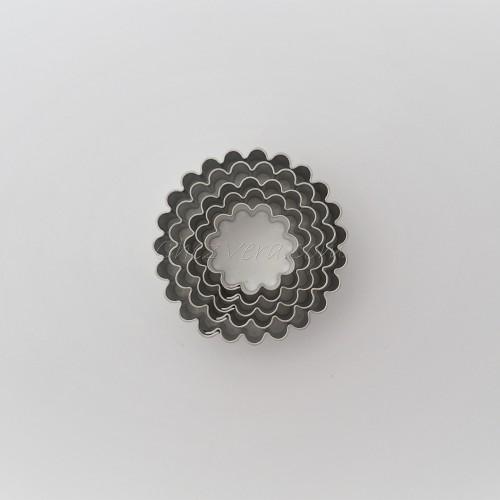 Ausstechformen Set – gezackte Kreise (5 Stücke)