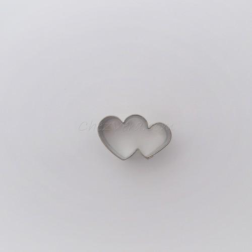 Emporte-pièce Double coeur – mini