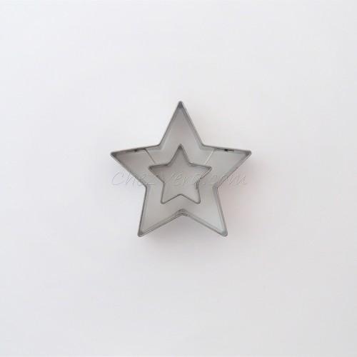 Étoile 5 branches avec étoile 5 branches