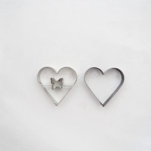 Heart II with butterfly + Heart