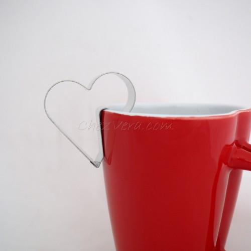 Emporte-pièce Coeur pour accrocher sur la tasse