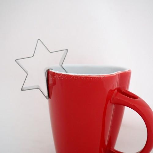 Emporte-pièce accroche Tasse étoile