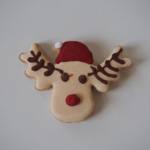 Cookie Cutter Reindeers Head with a Cap