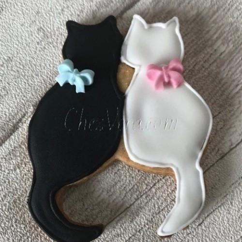 Emporte-pièce Deux chats