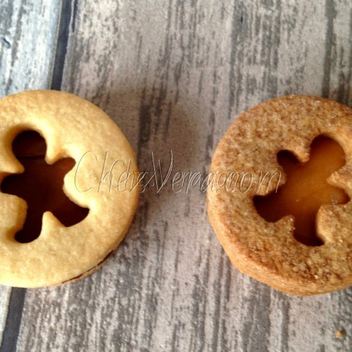Linzer Cookie Cutter – Circle II with Gingerbread Man