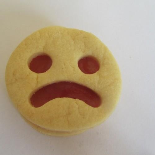 Linzer Ausstechform – Smiley (traurig)
