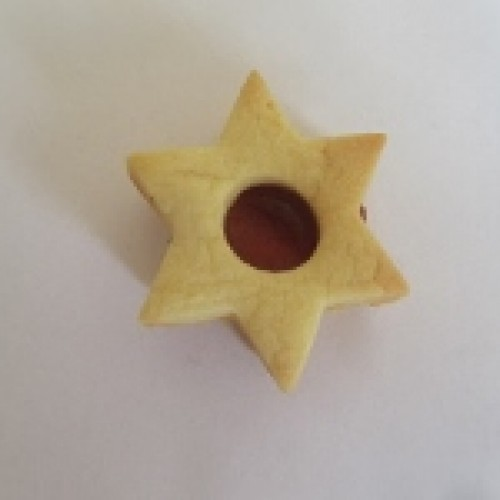 Linzer Cookie Cutter – Star with Circle (small)