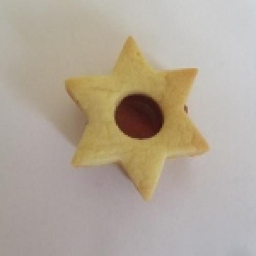 Linzer Cookie Cutter – Star with Circle (medium)