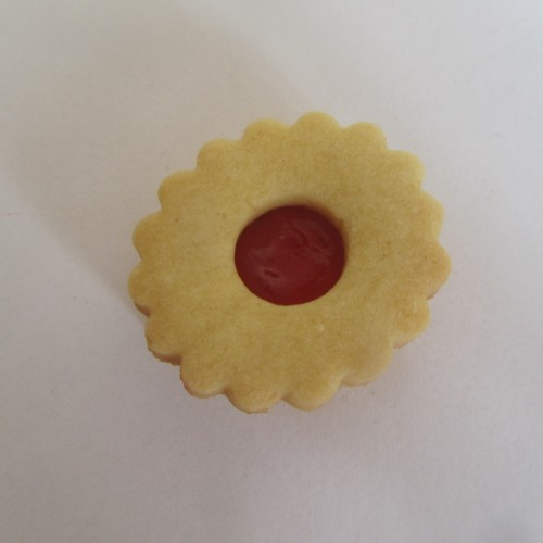 Emporte-pièces pour biscuits confiture - Rond ondulé avec rond