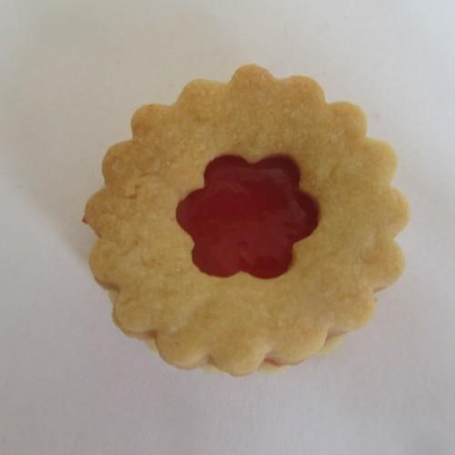 Emporte-pièces pour biscuits confiture - Rond ondulé avec fleur