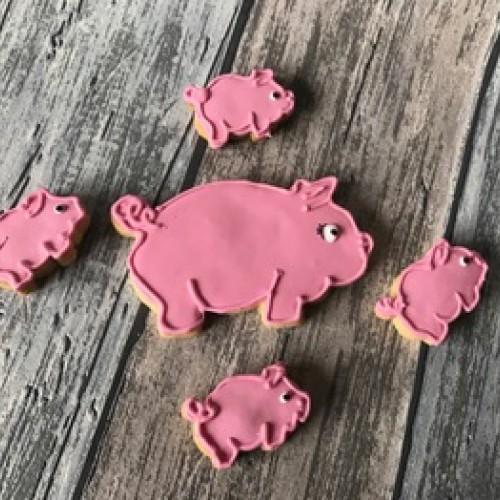 Ausstechform Schwein groß II