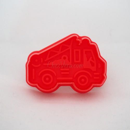 Ausstechform mit Auswerfer – Feuerwehrauto