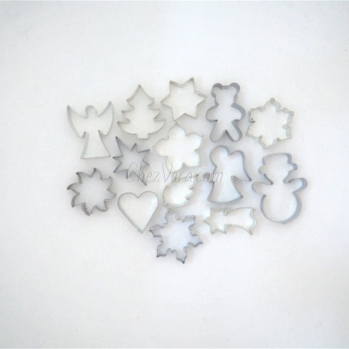 Christmas Cookie Cutters Set, Set of 14 Pieces I