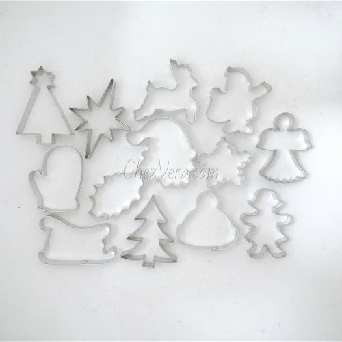 Christmas Cookie Cutters Set, Set of 13 Pieces I