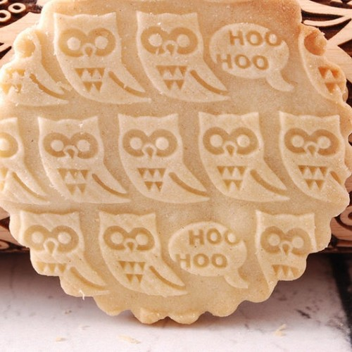 ENGRAVED MINI ROLLING PIN – Owl Pattern