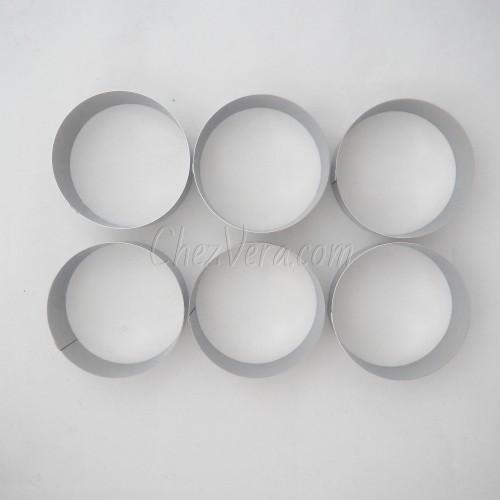 Cercle à Pâtisserie Rond – 6 pièces