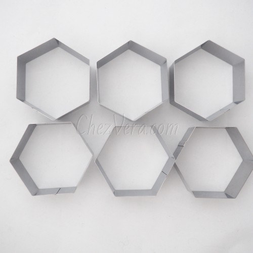 Hexagon Baking Frames Set – 6 pcs.