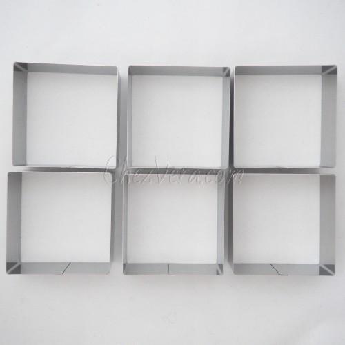 Square Baking Frames Set – 6 pcs.