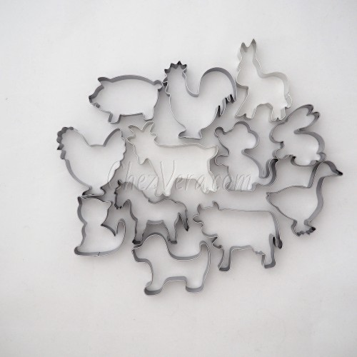 Cookie Cutters Set Farm Animals II – 12 pieces