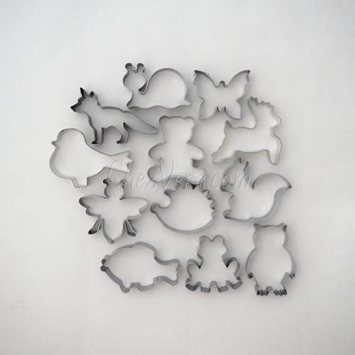 Ausstechformen Set Wald Tiere II – 12 Stück